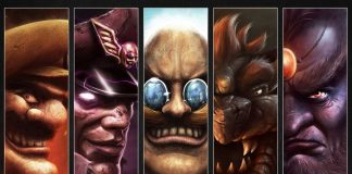 Several villains from video games, side by side.