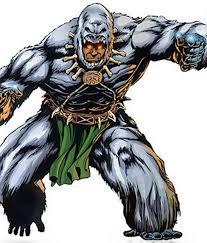 M'Baku of the Black Panther comics, wearing his gorilla suit.