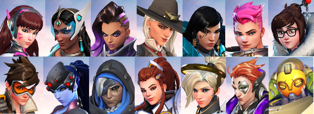 Ashe and the other women of Overwatch