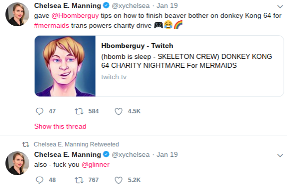 Chelsea Manning participated in the Hbomberguy twitch stream