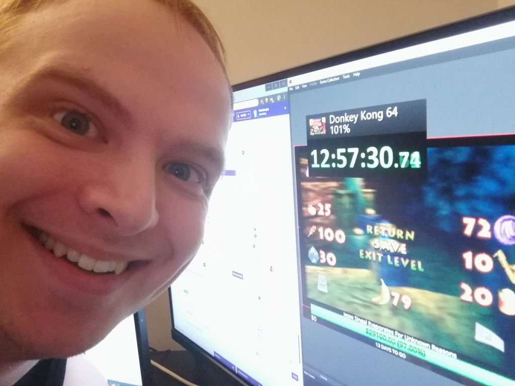 Hbomberguy at over 12 hours into the stream.
