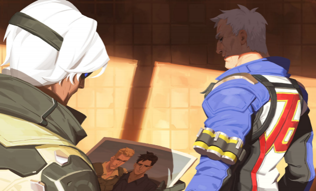 Soldier: 76 and Ana reminisce on the old days